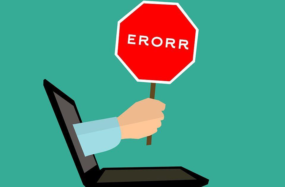 imagen de ordenador con erorr