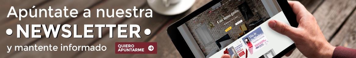 banner apúntate a nuestra newsletter para Muebles Joya horizontal