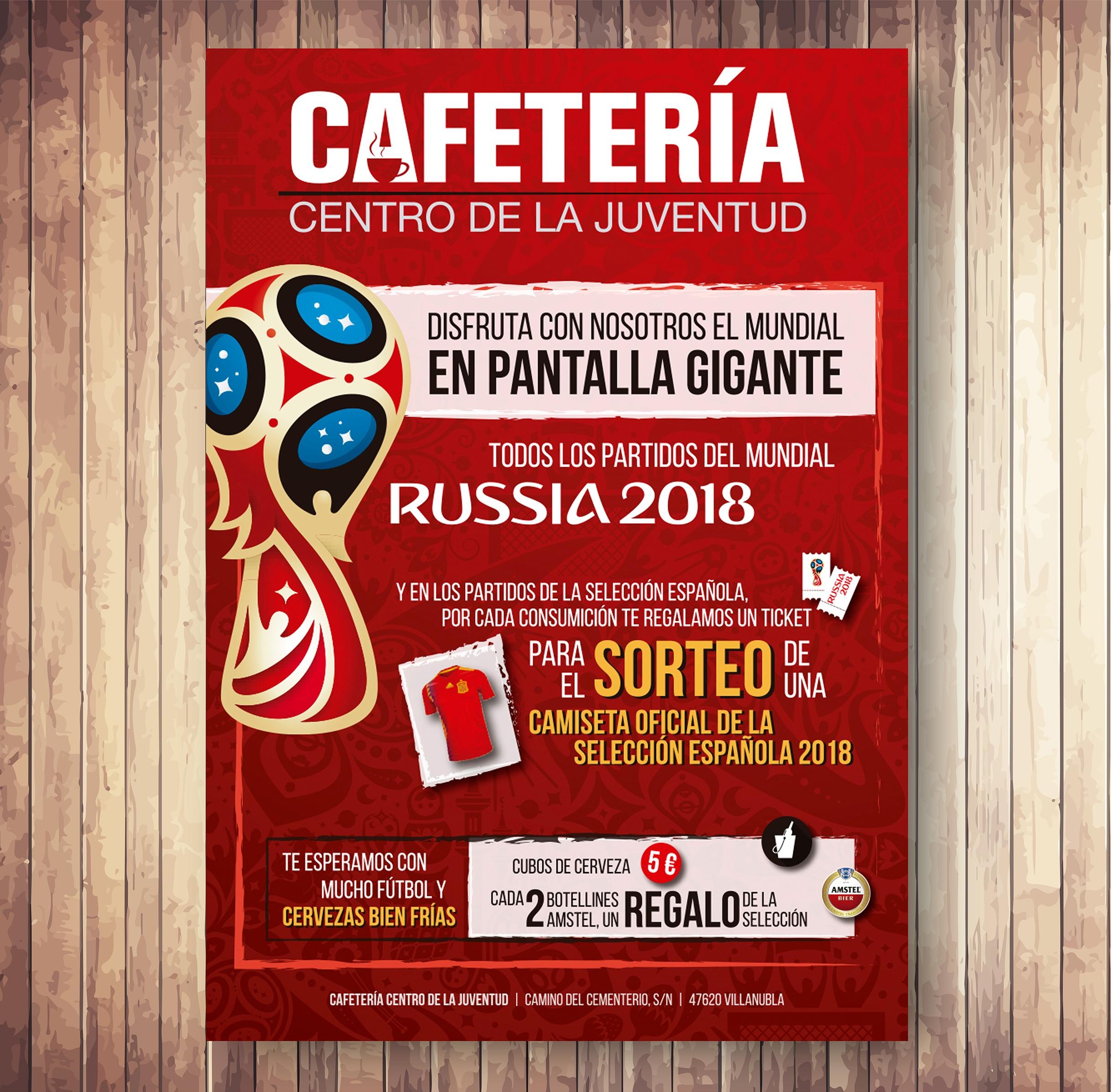 Cartel Mundial para Cafetería del Centro de Juventud