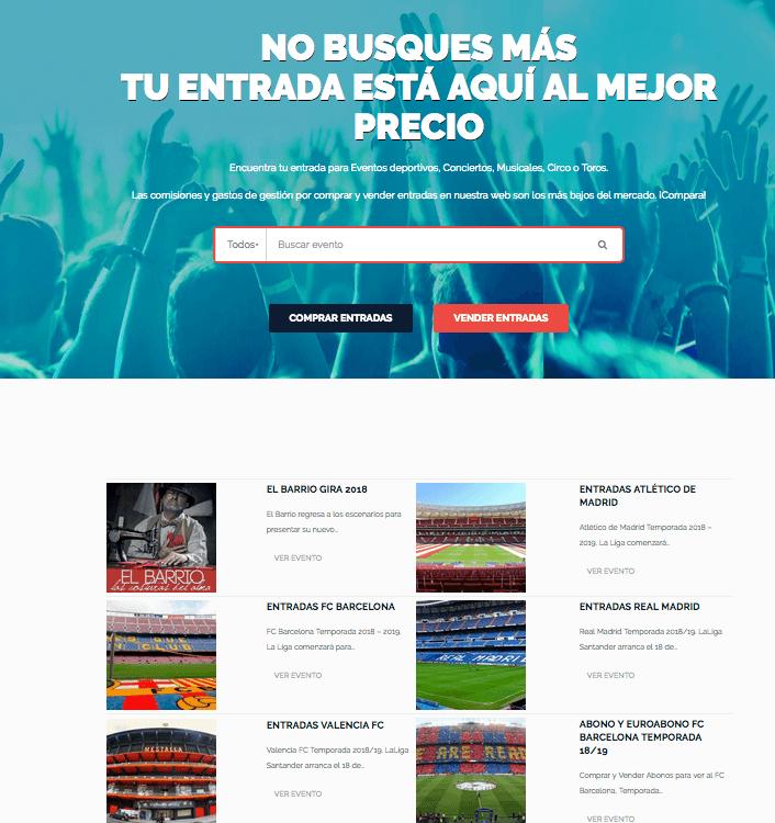 página web liderentradas.com