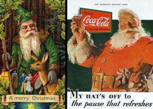 imagen San Nicolás y Papá Noel