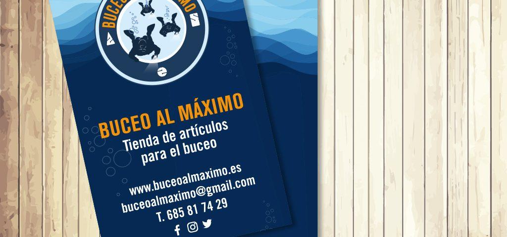 Tarjeta de visita Buceo al Máximo