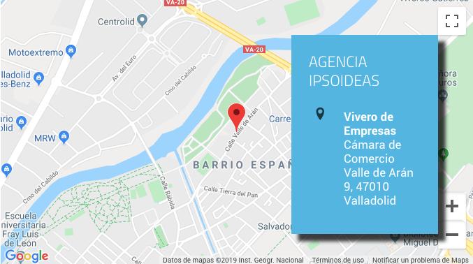 Google maps agencia de publicidad Ipsoideas en Vallladolid