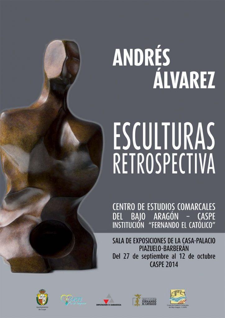Cartel informativo sobre exposición de esculturas