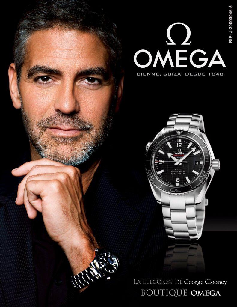 Cartel informativo publicidad sobre reloj