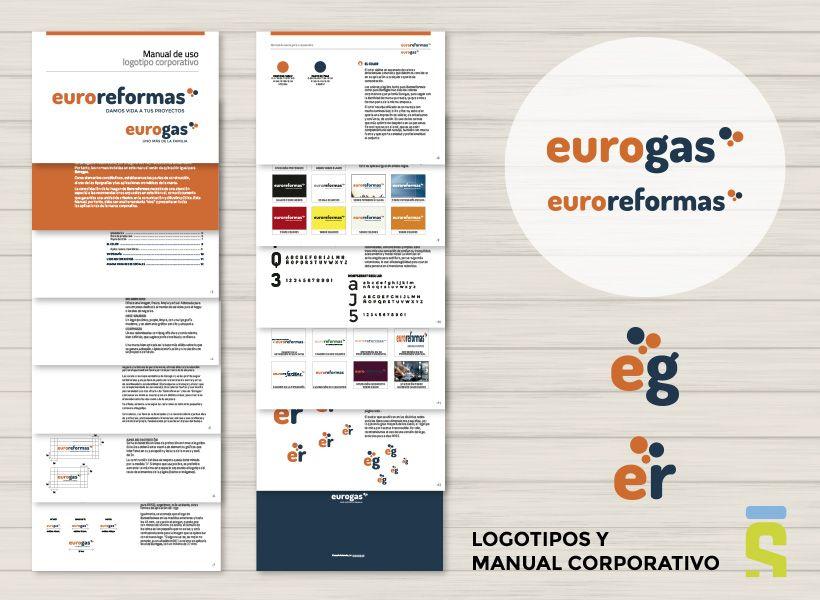 logotipos y material corporativo Eurogas