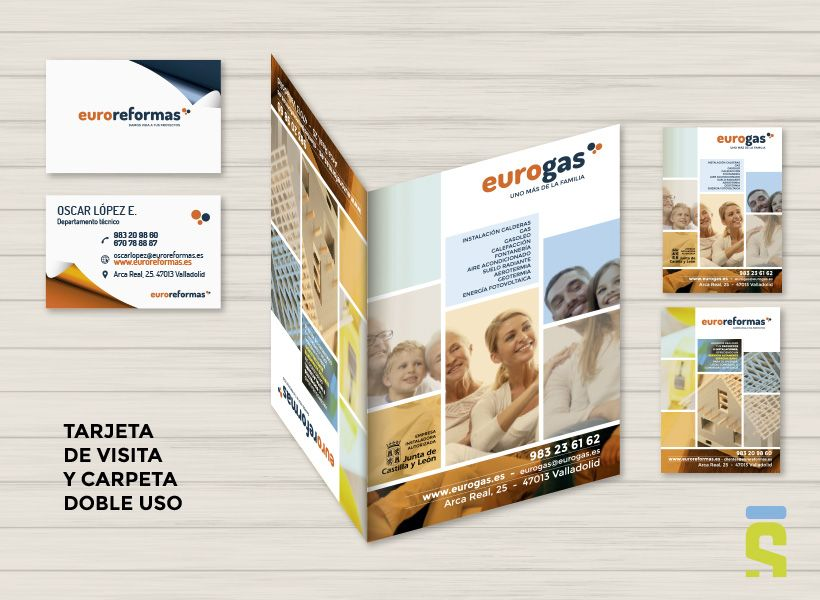 diseño de carpetas Eurogas