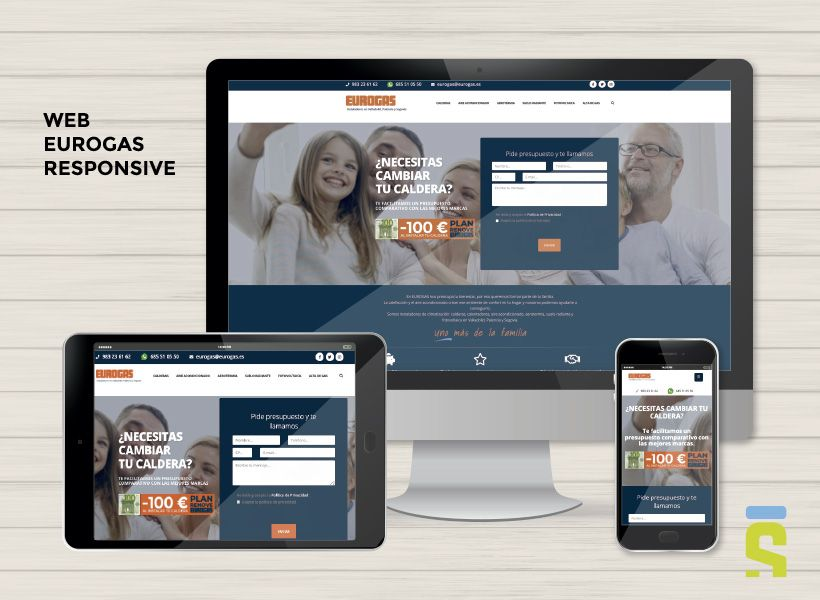 diseño web responsive Eurogas