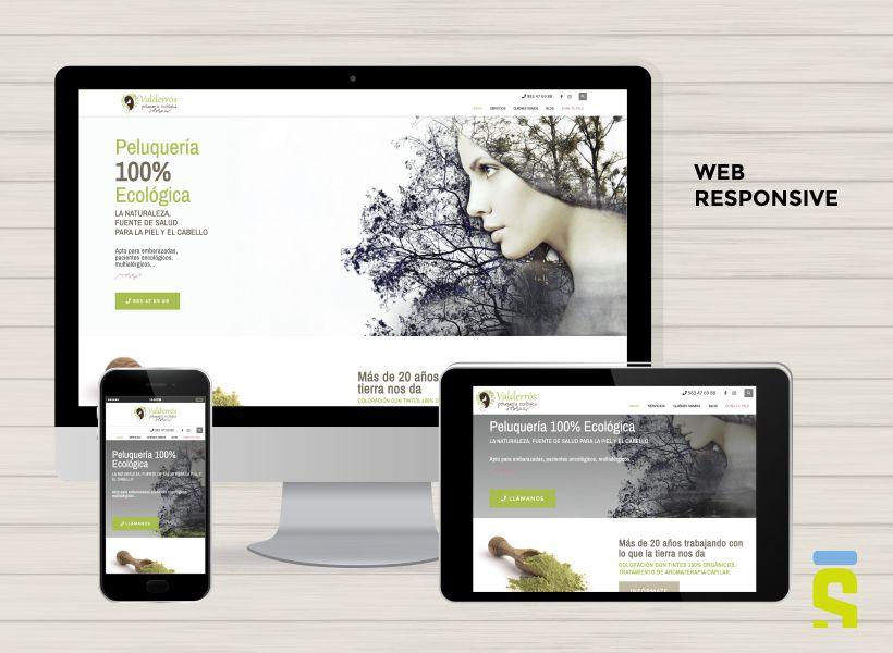 web Peluquería Valderrós