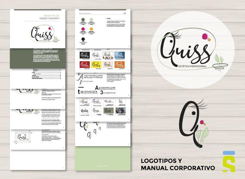 logotipos y manual corporativo Quiss