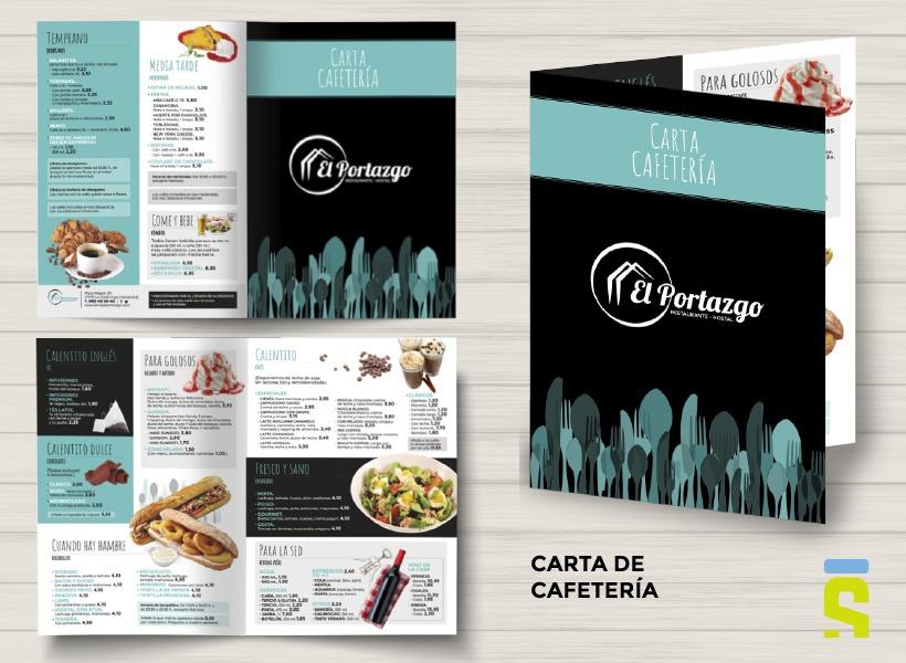 Diseño carta de cafetería