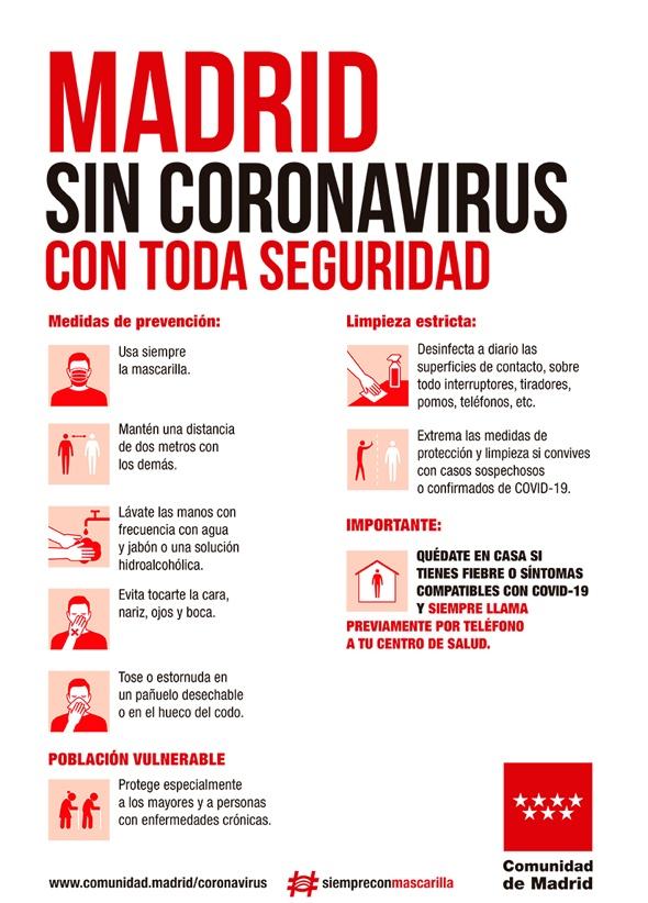 Diseño gráfico y coronavirus. Cartel Madrid